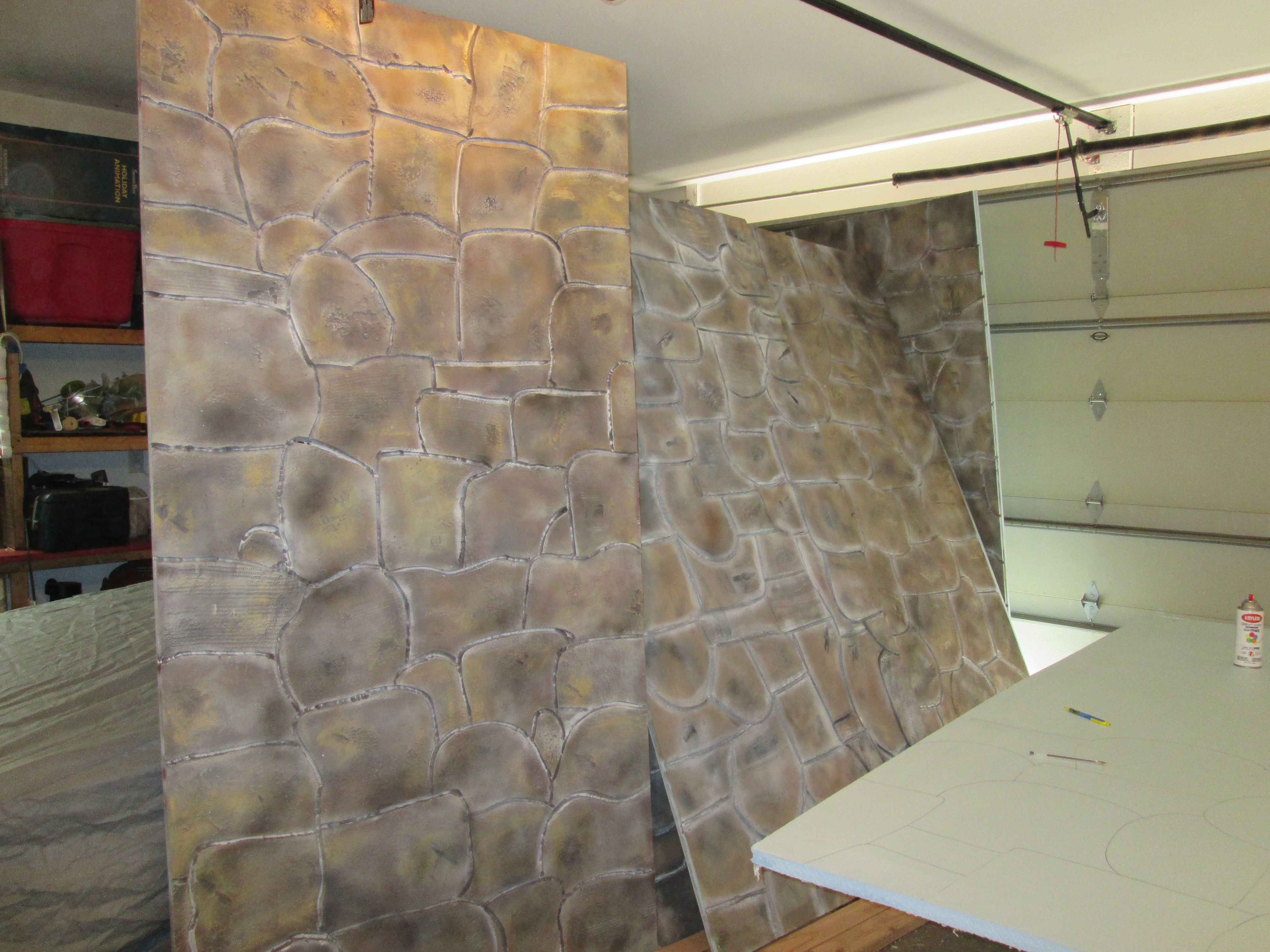 Faux Stone Panels Made From Polystyrene Aka Styrofoam