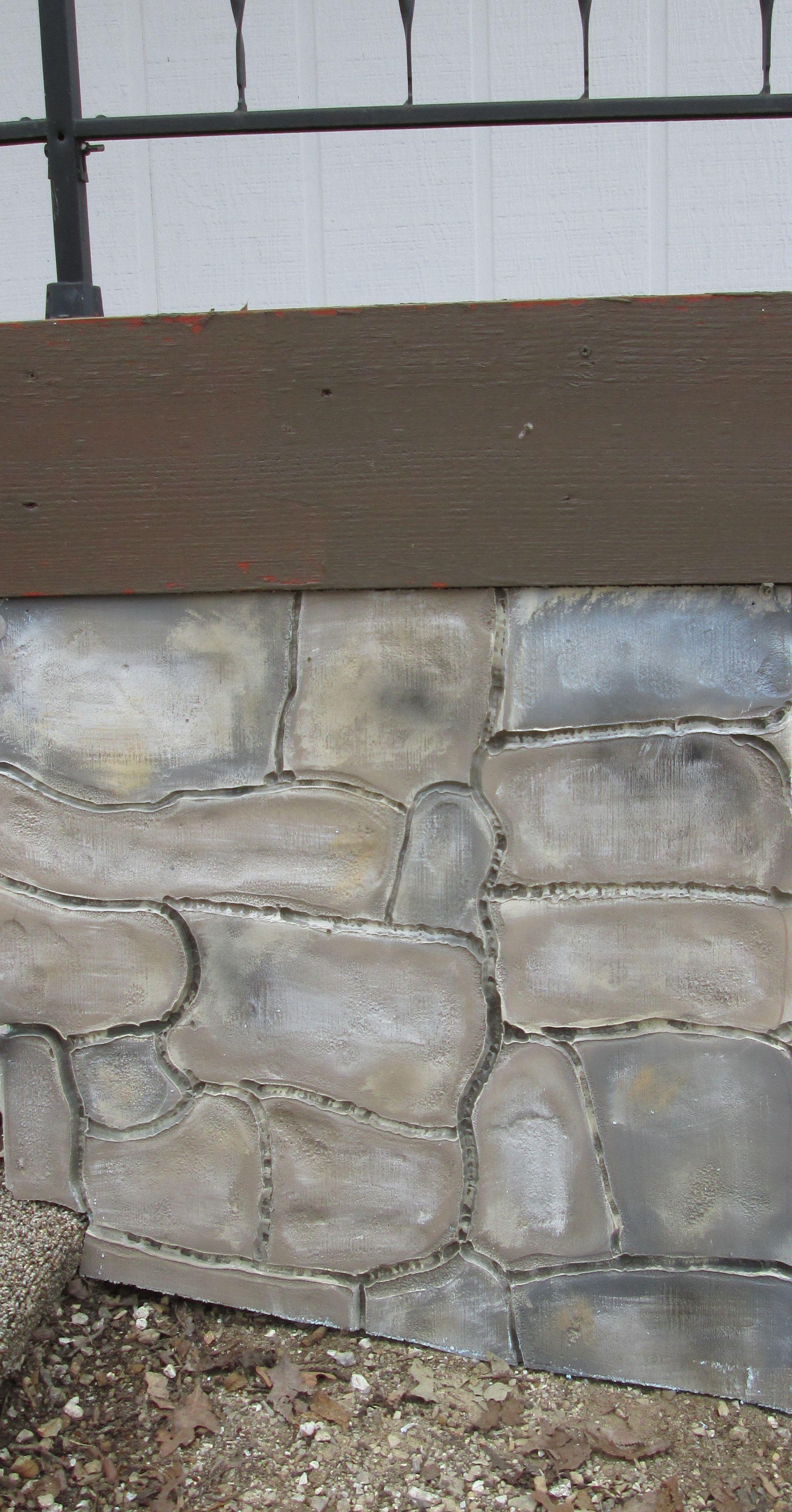 Styrofoam Rock Panels : Faux stone panels made from polystyrene aka styrofoam